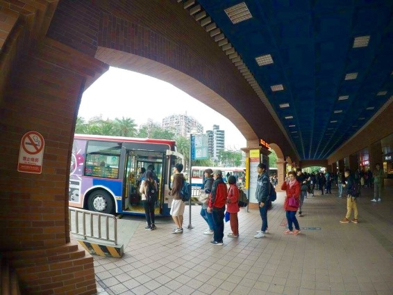 Tamsui Station's Bus Stop