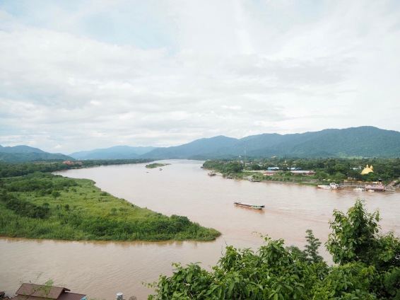 Left island: Burma (now Myanmar), Right: Laos, where I stand: Thailand